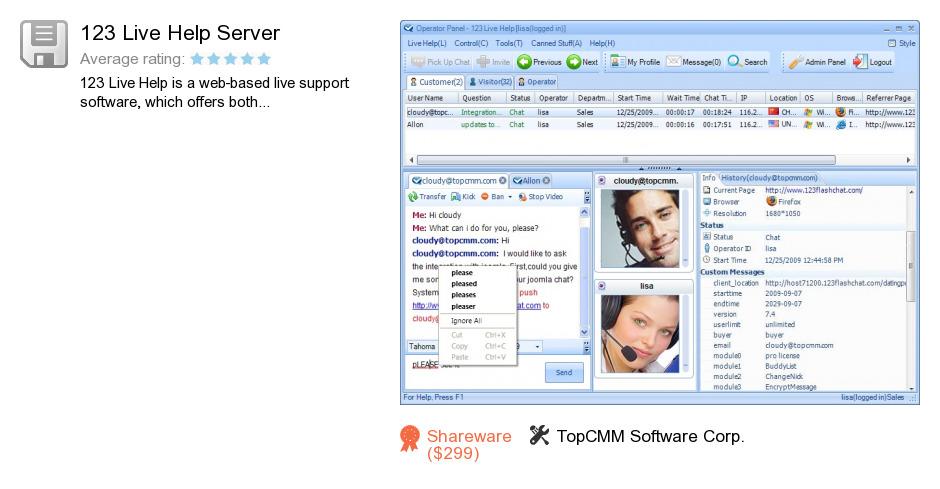 123 Live Help Server