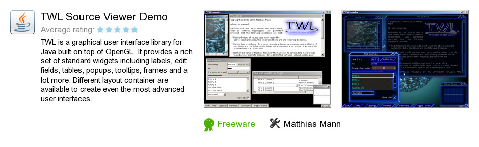 TWL Source Viewer Demo