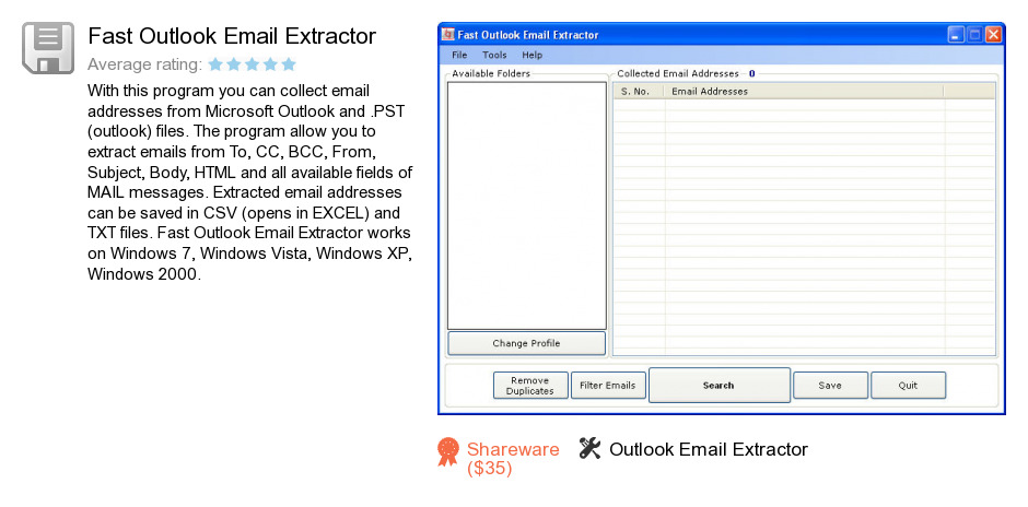 Fast Outlook Email Extractor