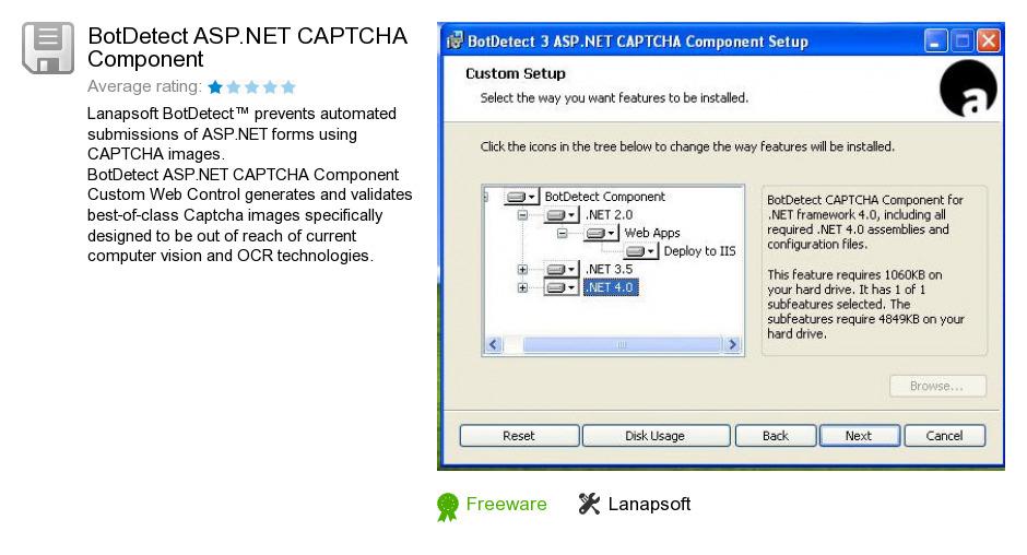 BotDetect ASP.NET CAPTCHA Component