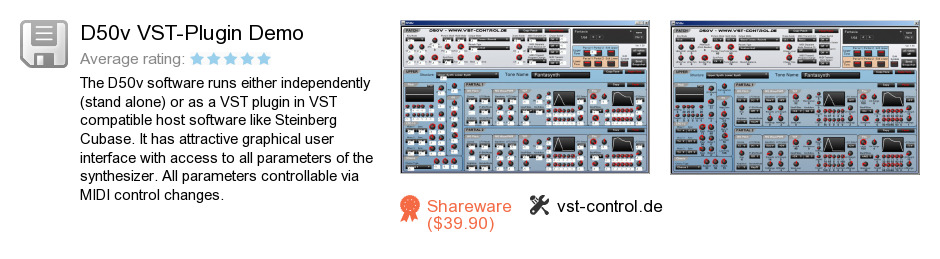D50v VST-Plugin Demo