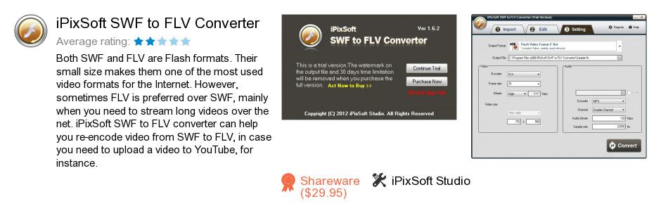 IPixSoft SWF to FLV Converter