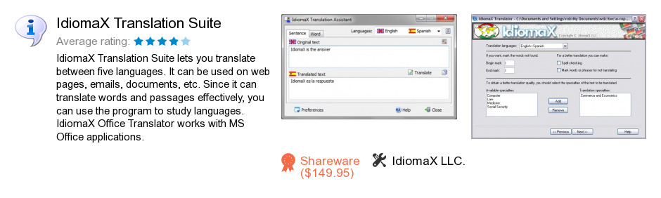 IdiomaX Translation Suite 7.0