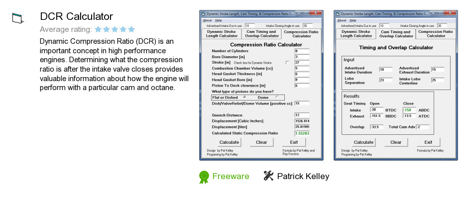 DCR Calculator