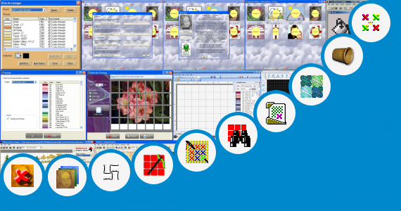 Software collection for Cross Stitch Patterns College Logos