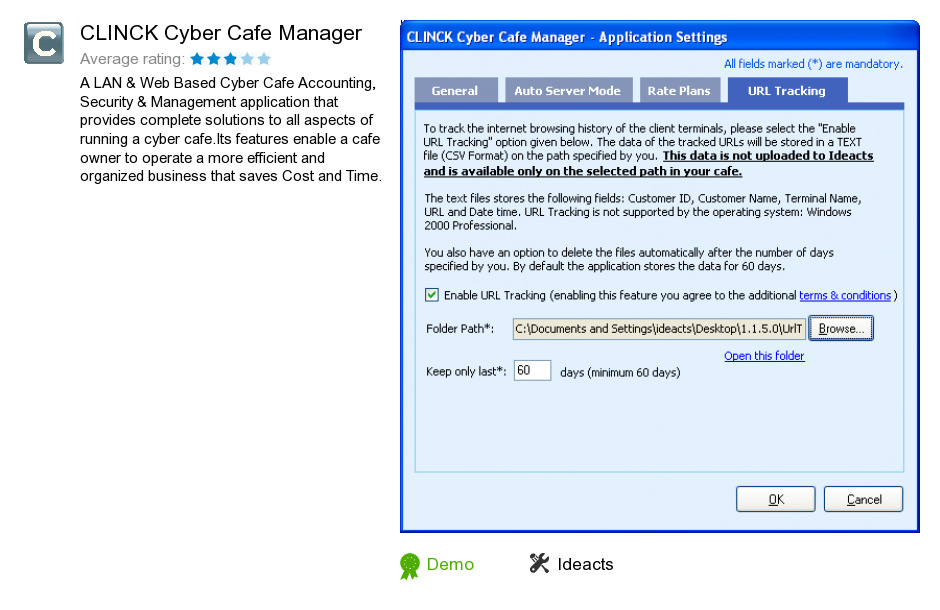 CLINCK Cyber Cafe Manager