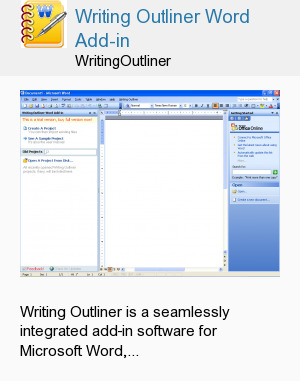 Writing Outliner Word Add-in