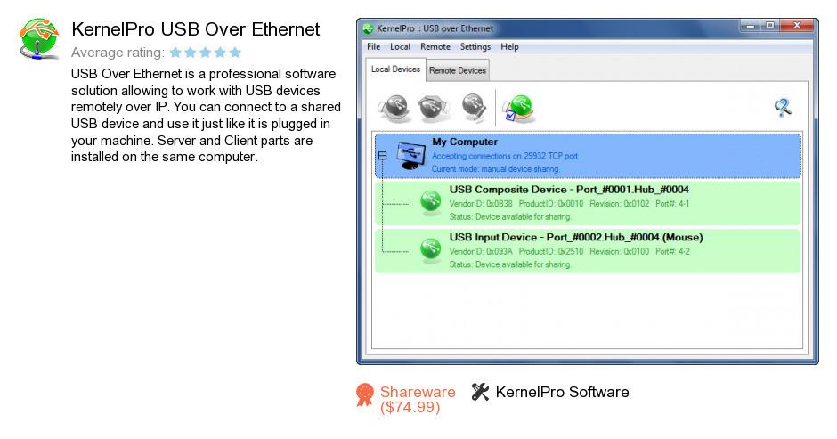 KernelPro USB Over Ethernet