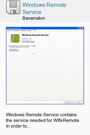 Windows Remote Service