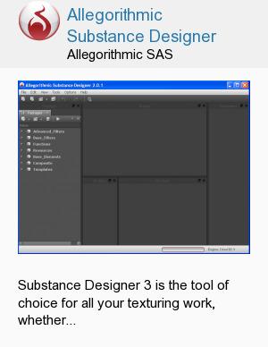 Allegorithmic Substance Designer