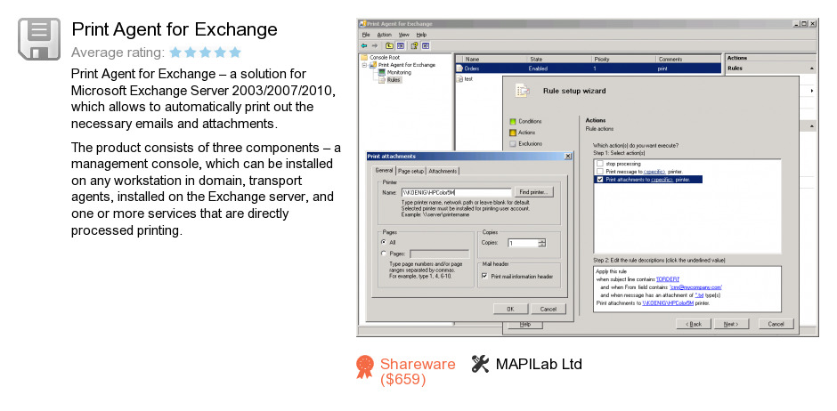 Print Agent for Exchange