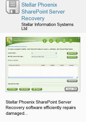Stellar Phoenix SharePoint Server Recovery