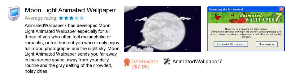 Moon Light Animated Wallpaper