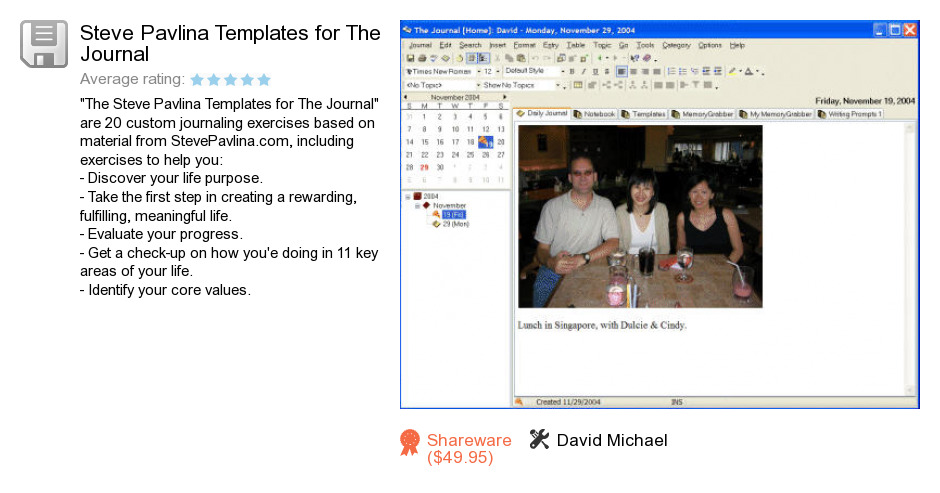 The journal steve pavlinas templates serials