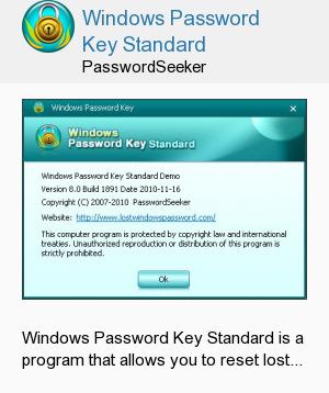 Windows Password Key Standard