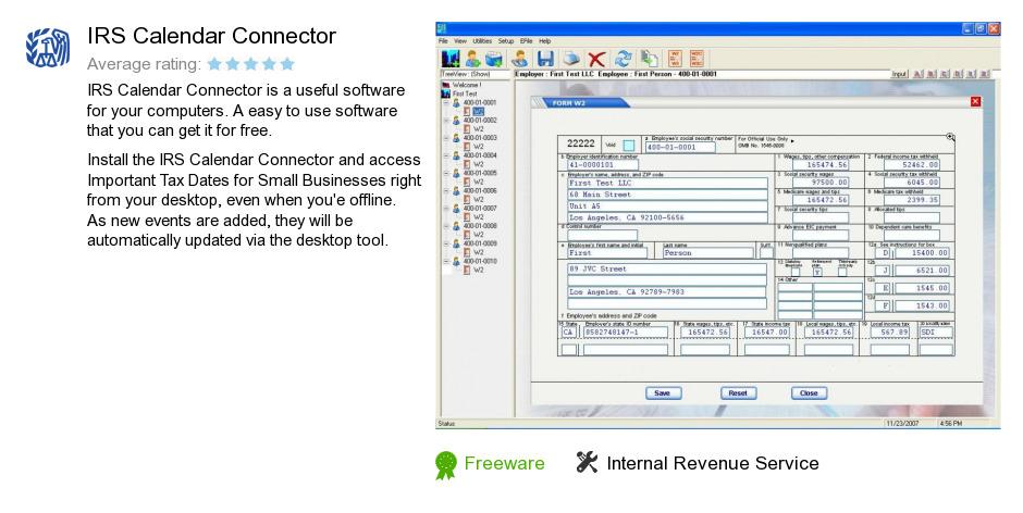 IRS Calendar Connector
