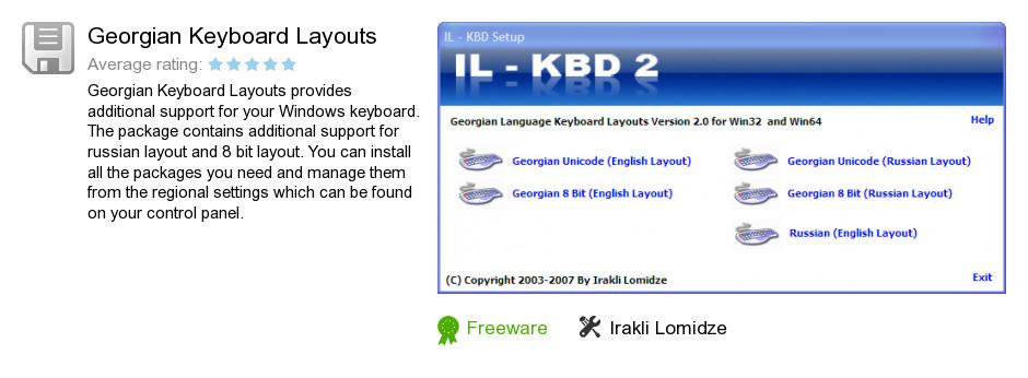 Georgian Keyboard Layouts
