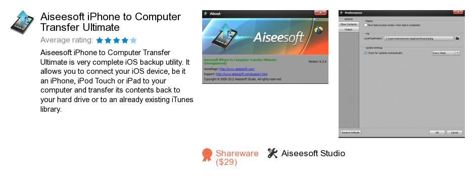 Aiseesoft iPhone to Computer Transfer Ultimate