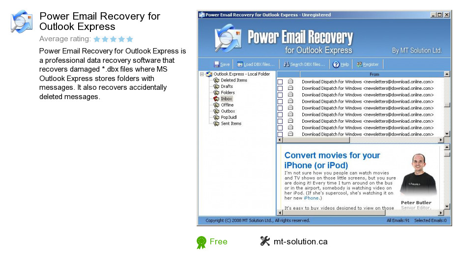 Power Email Recovery for Outlook Express