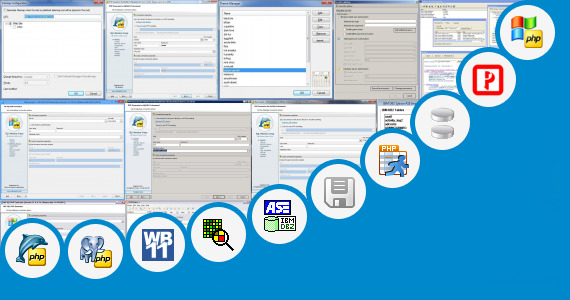 Software collection for Php Database Builder Software
