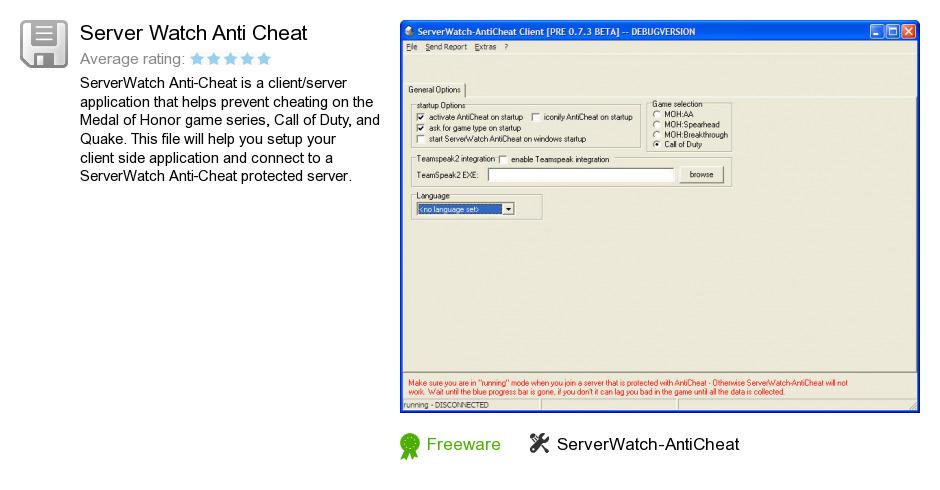Server Watch Anti Cheat