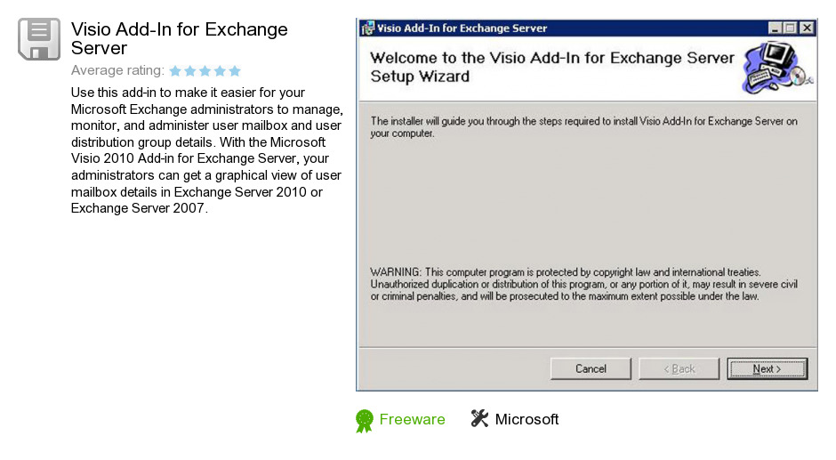 Visio Add-In for Exchange Server