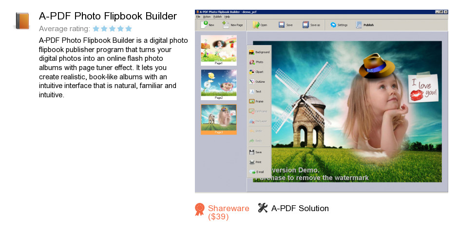 A-PDF Photo Flipbook Builder