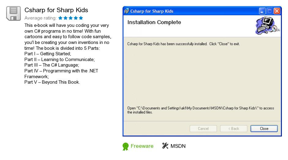 Csharp for Sharp Kids