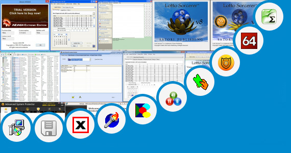 Software collection for Extreme Lotto Number Matrix System