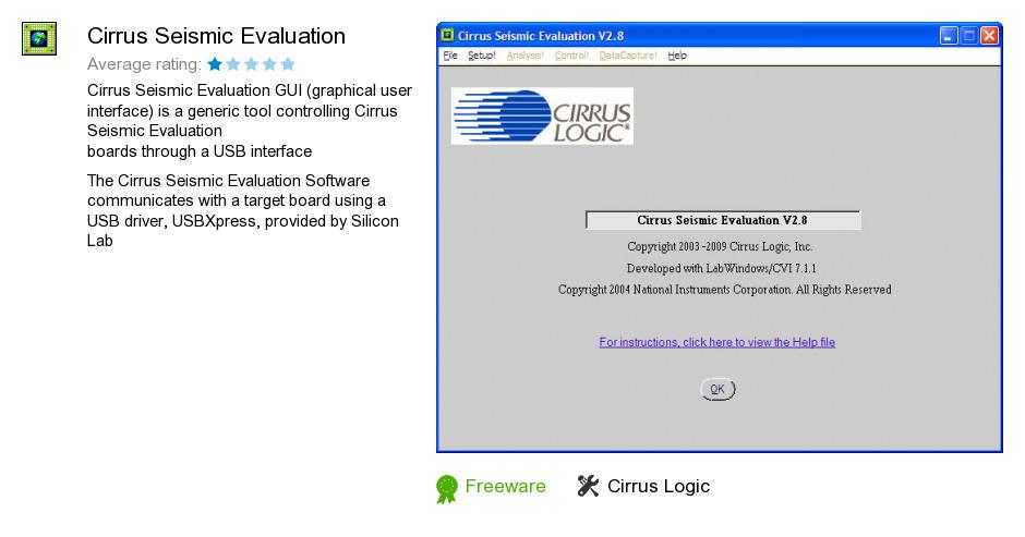 Cirrus Seismic Evaluation