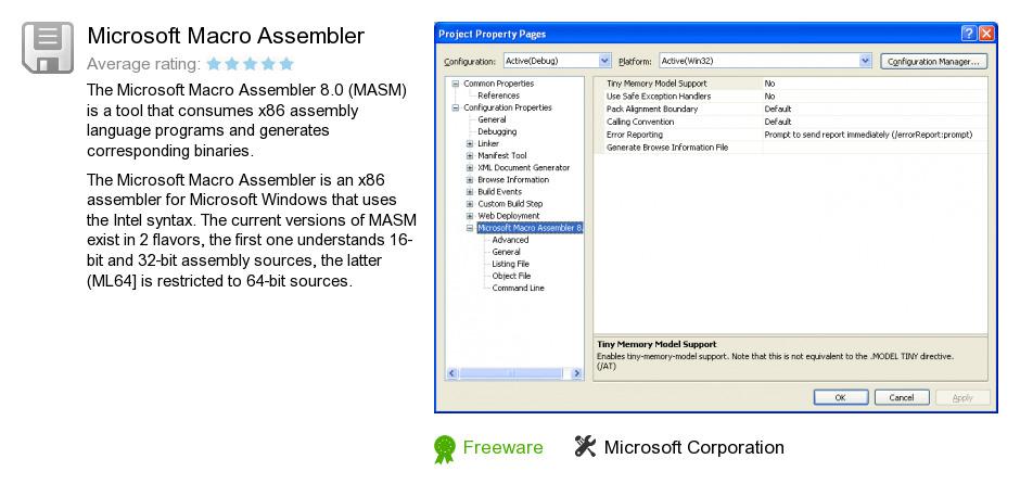 Microsoft Macro Assembler