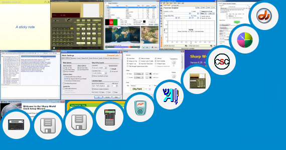 Software collection for Sharp Calculator Emulator