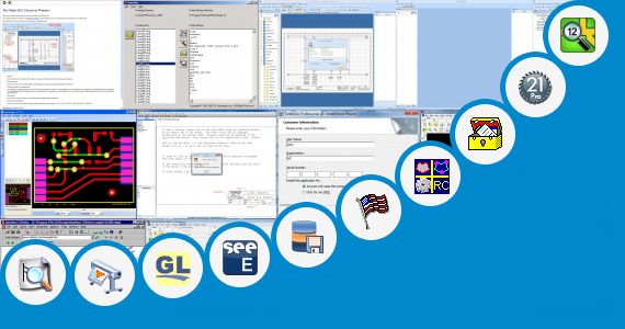 Software collection for Two Wheeler Auto Cad Drawing