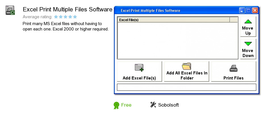 Excel Print Multiple Files Software