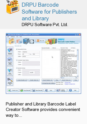 DRPU Barcode Software for Publishers and Library