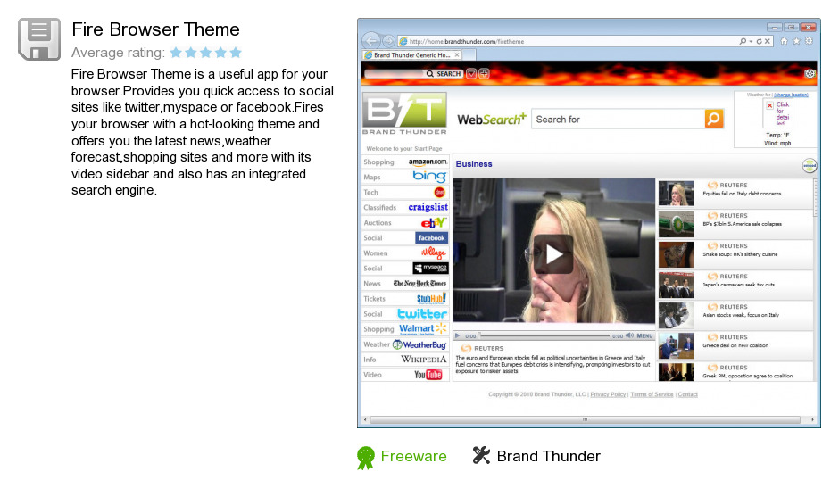 Fire Browser Theme