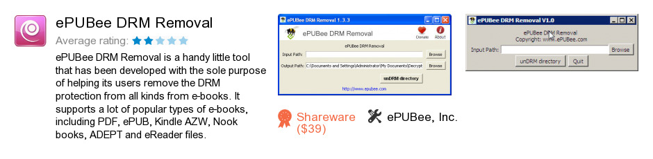 EPUBee DRM Removal
