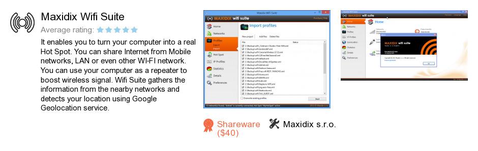 Maxidix Wifi Suite