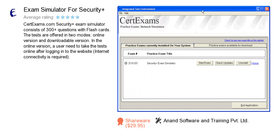 Exam Simulator For Security+