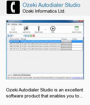 Ozeki Autodialer Studio