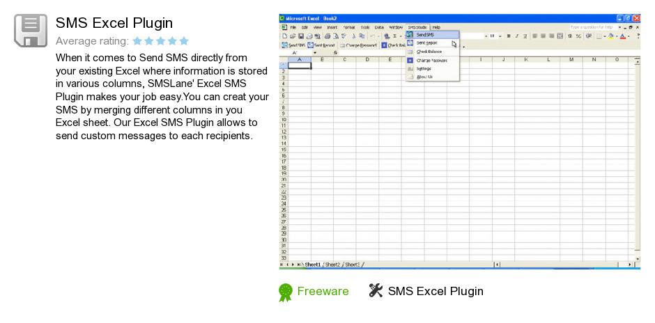 SMS Excel Plugin
