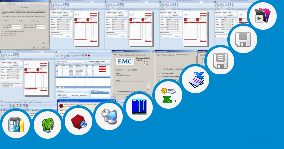 Software collection for Excel Client Management Template