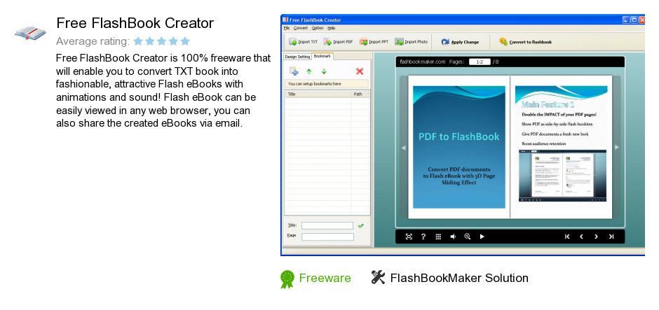 Free FlashBook Creator