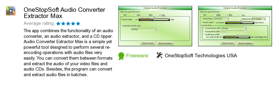 OneStopSoft Audio Converter Extractor Max