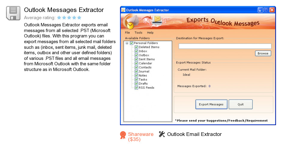 Outlook Messages Extractor