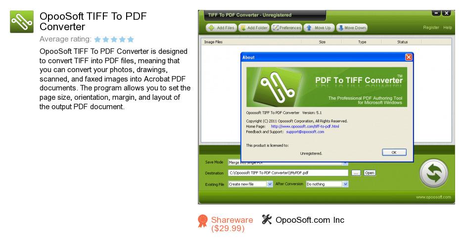 OpooSoft TIFF To PDF Converter