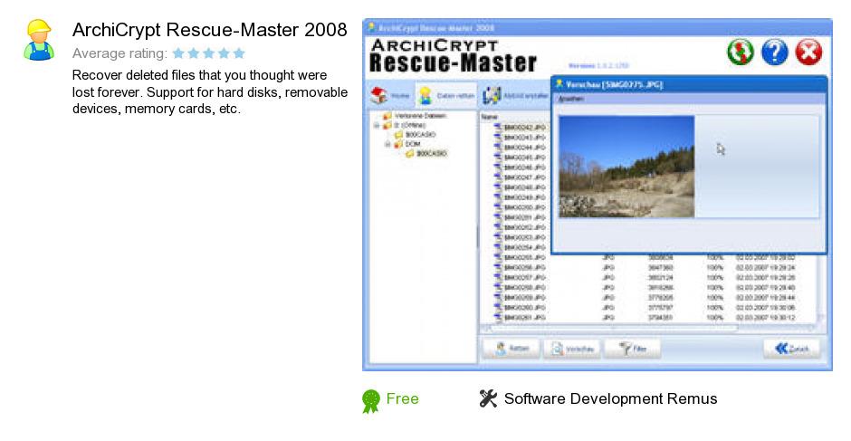 ArchiCrypt Rescue-Master 2008