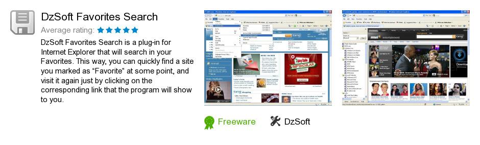 DzSoft Favorites Search