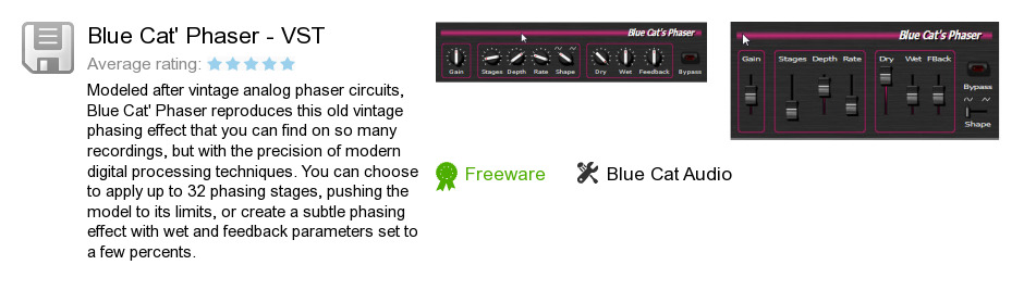 Blue Cat's Phaser - VST