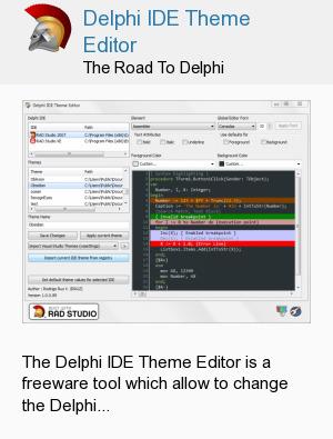 Delphi IDE Theme Editor
